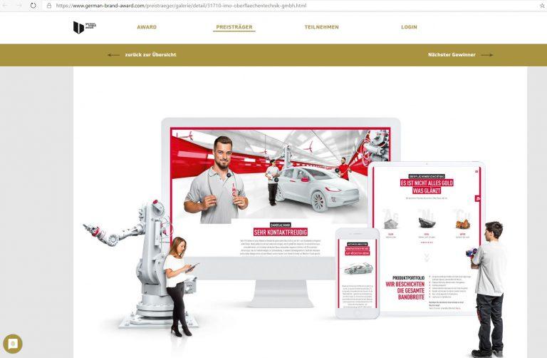 Screenshot IMO German Brand Award